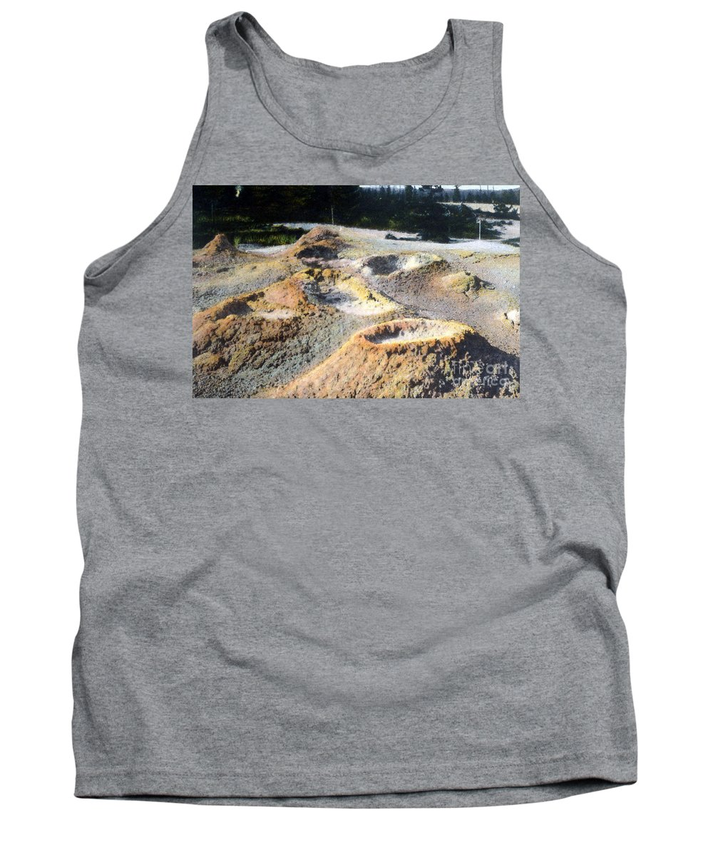 History Tank Top featuring the photograph Thumb Paint Pots Yellowstone Np 1928 by NPS Photo Asahel Curtis