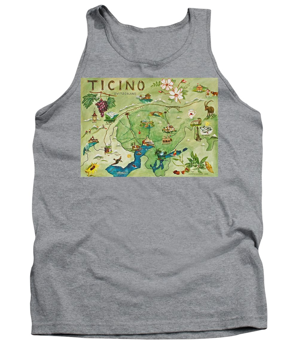 Ticino Paintings Tank Top featuring the painting Ticino by Virginia Ann Hemingson