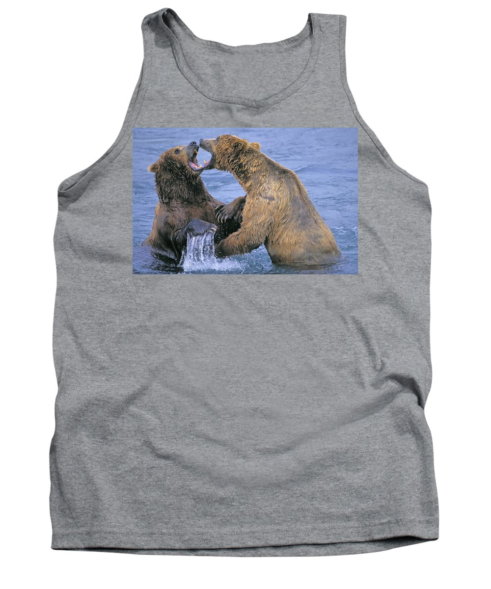 Tank Top featuring the photograph Tk0334, Thomas Kitchin Grizzlyalaskan by First Light