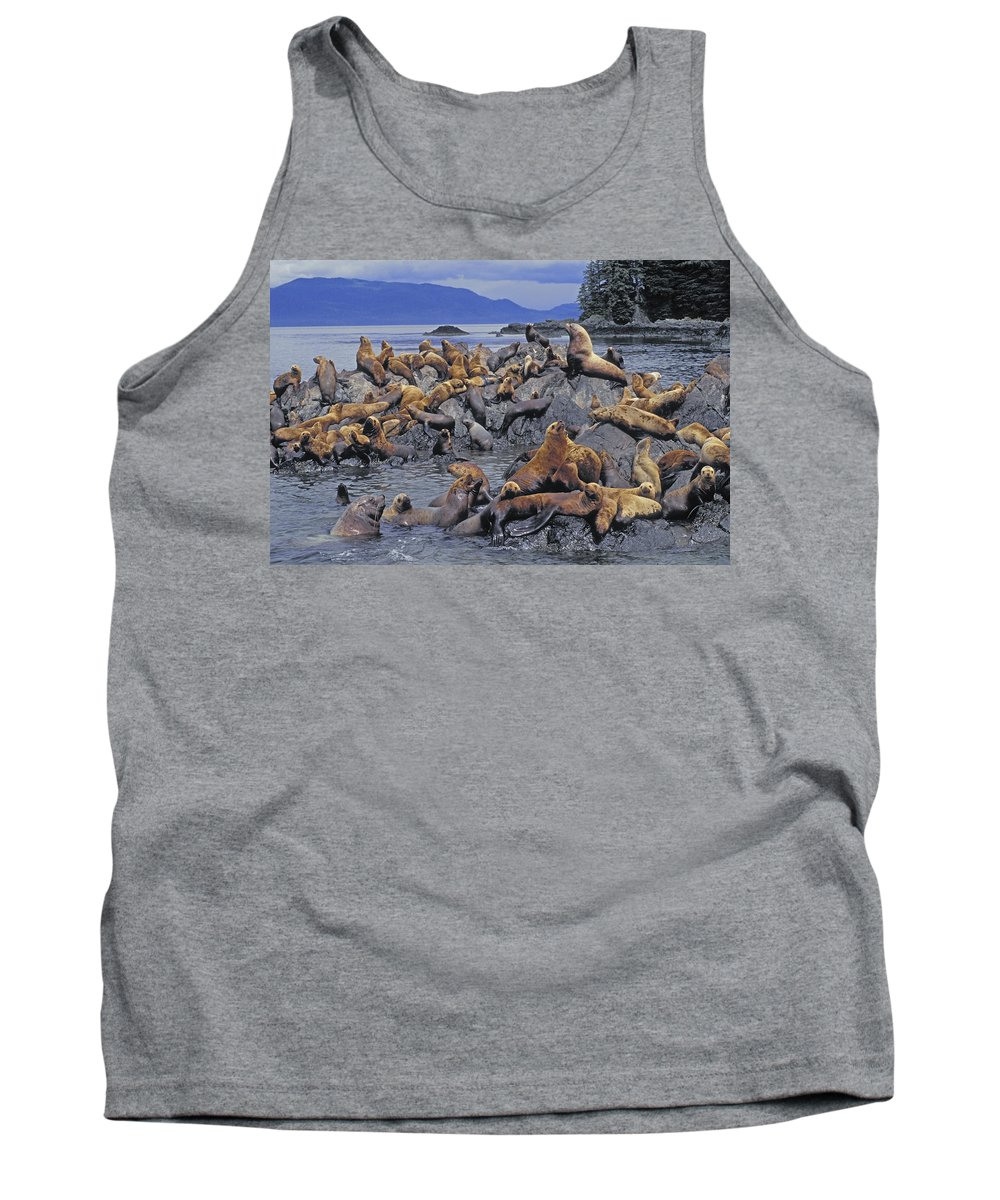 Tank Top featuring the photograph Tk0440, Thomas Kitchin Steller Sea by First Light
