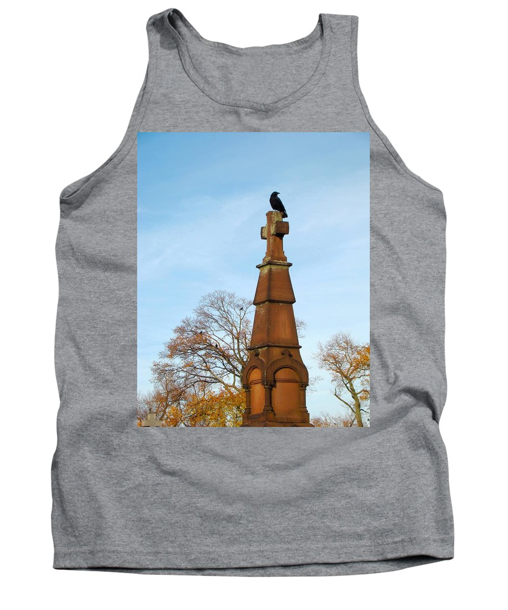 Old Cross Tank Top featuring the photograph Top Of The Cross by Gothicrow Images
