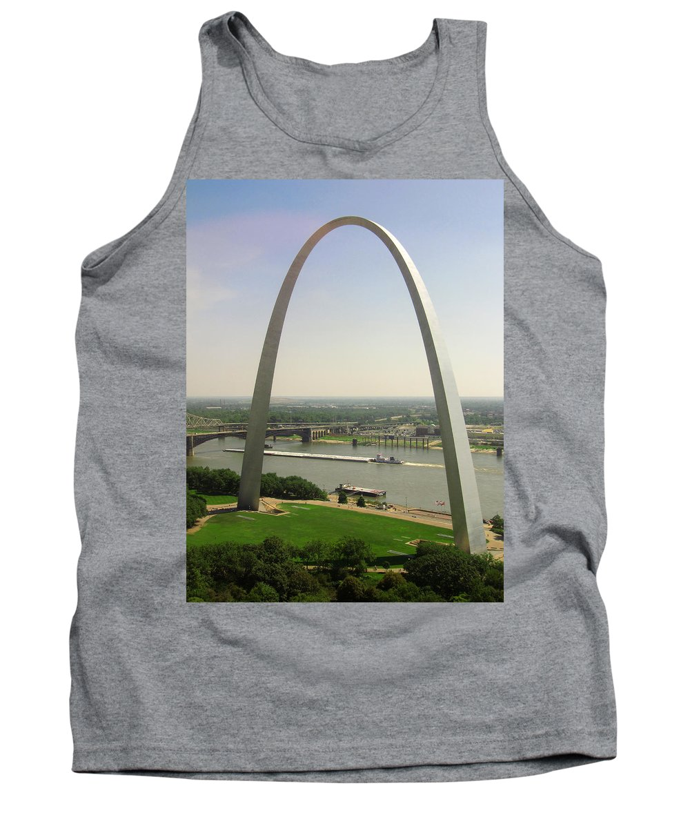 Mississippi River Tank Top featuring the photograph Top Of The Riverfront by Garry McMichael