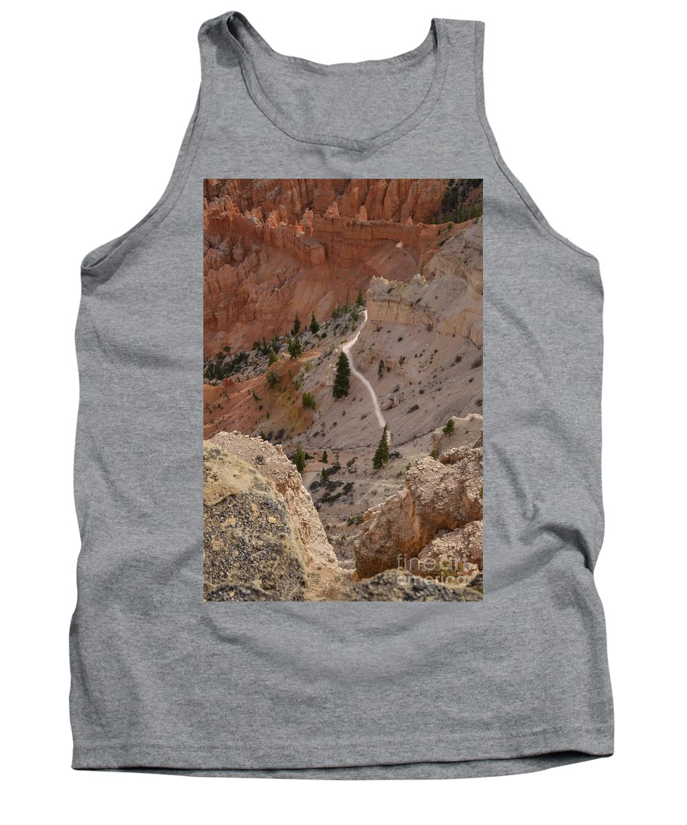 Brown Tank Top featuring the photograph Trail Into The Past by Rich Priest