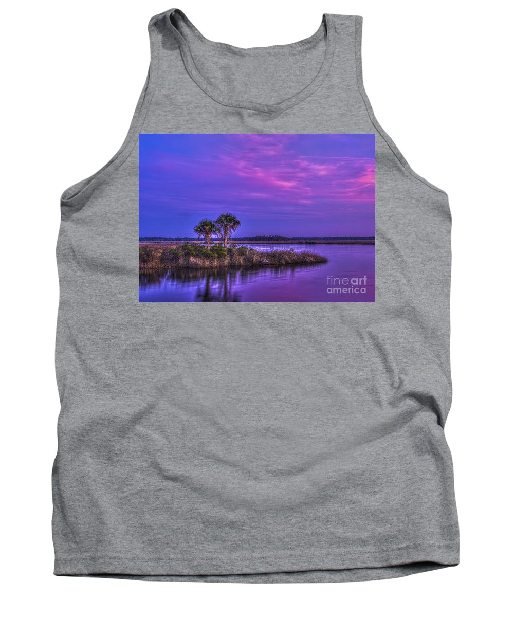 Tranquil Palms Tank Top featuring the photograph Tranquil Palms by Marvin Spates