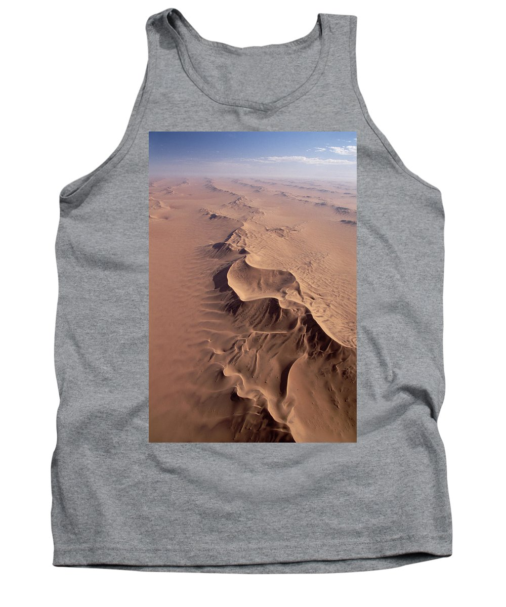 Feb0514 Tank Top featuring the photograph Transverse Sand Dune Namib-naukluft Np by Gerry Ellis