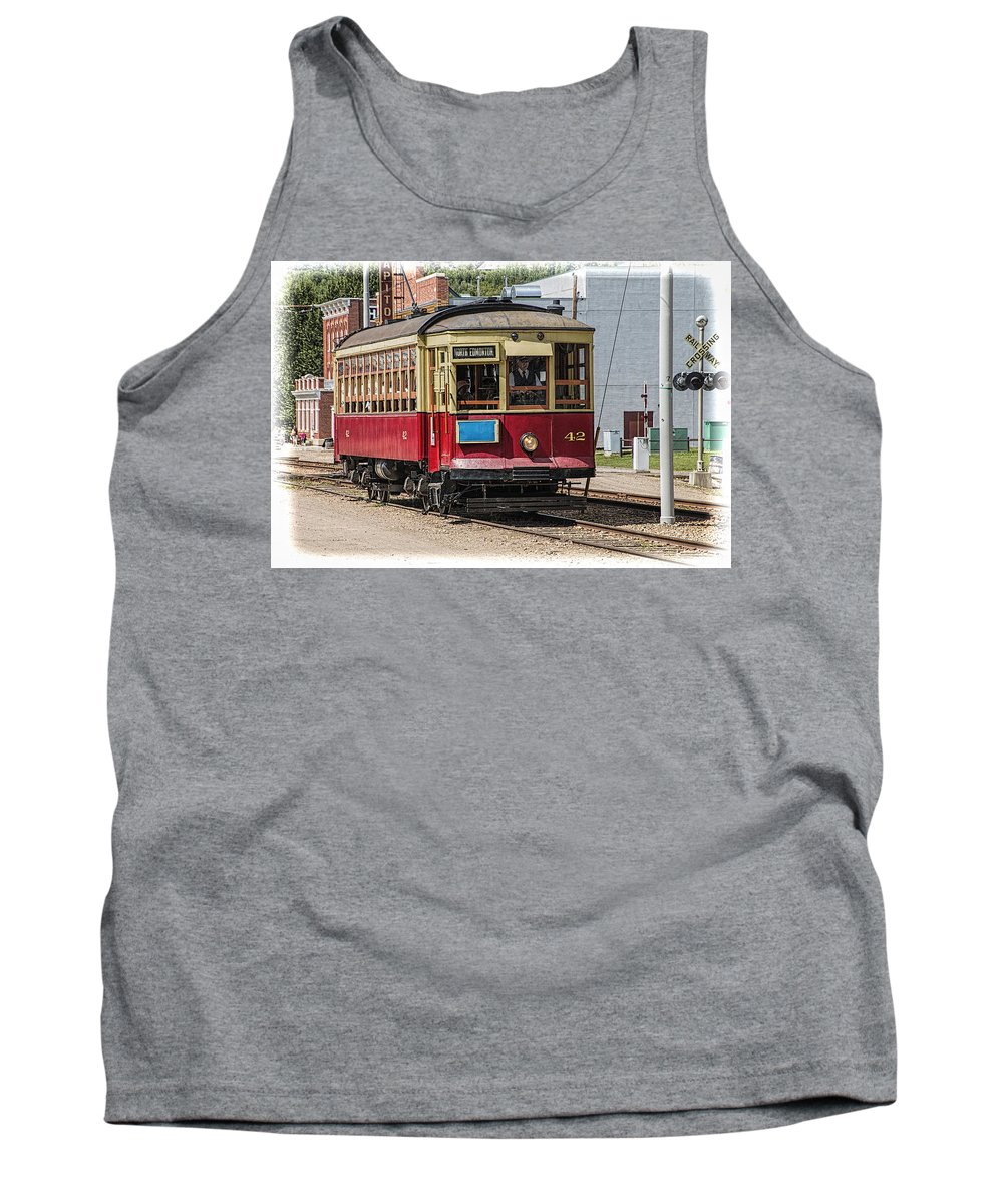 Art Tank Top featuring the photograph Trolley Car At The Fort Edmonton Park by Randall Nyhof