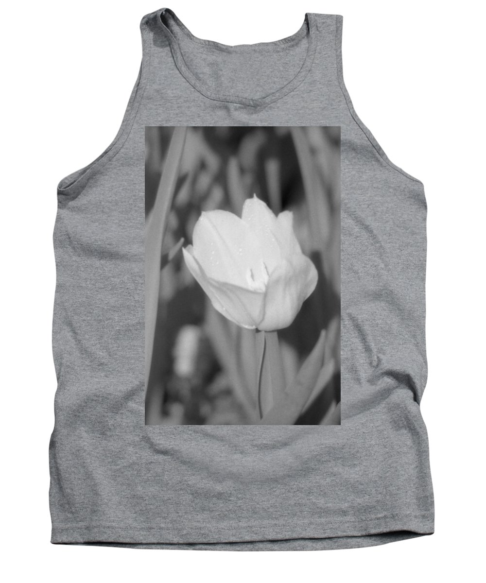 Tulip Tank Top featuring the photograph Tulips - Infrared 16 by Pamela Critchlow