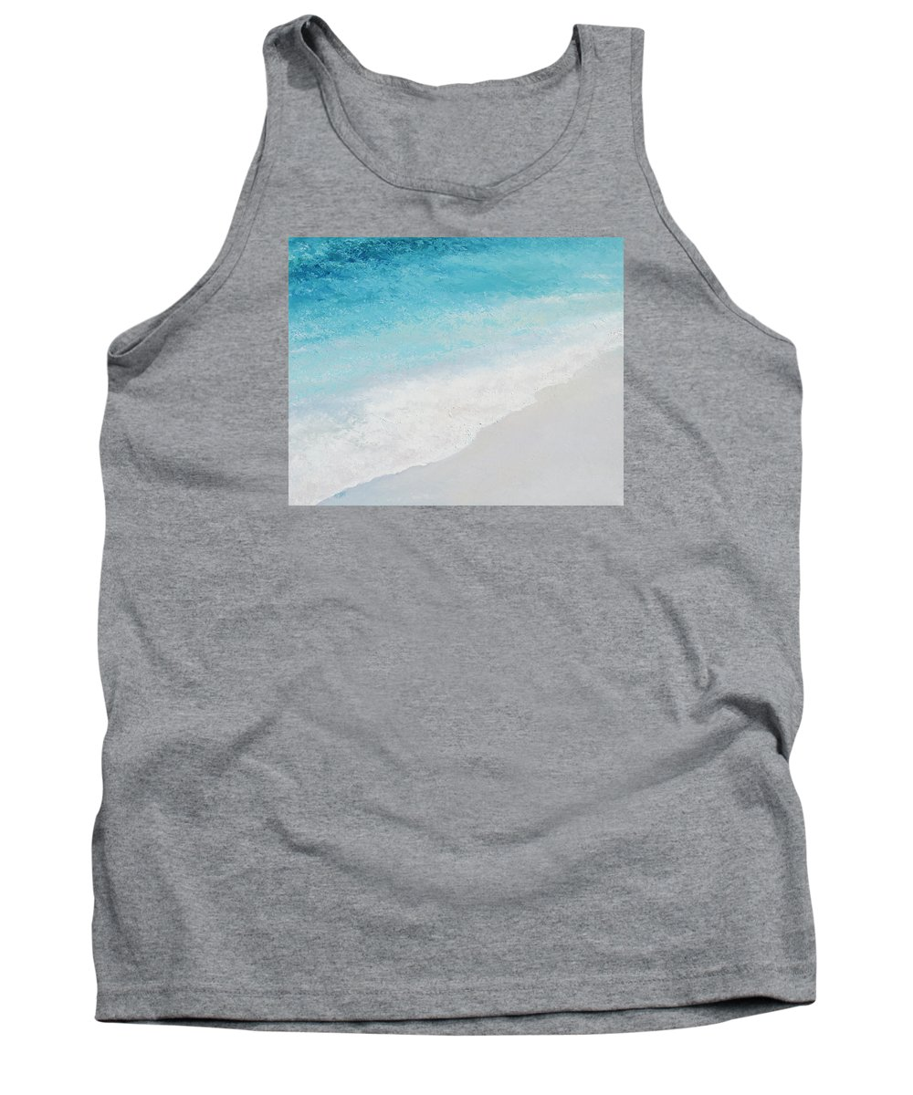 Ocean Tank Top featuring the painting Turquoise Ocean 4 by Jan Matson