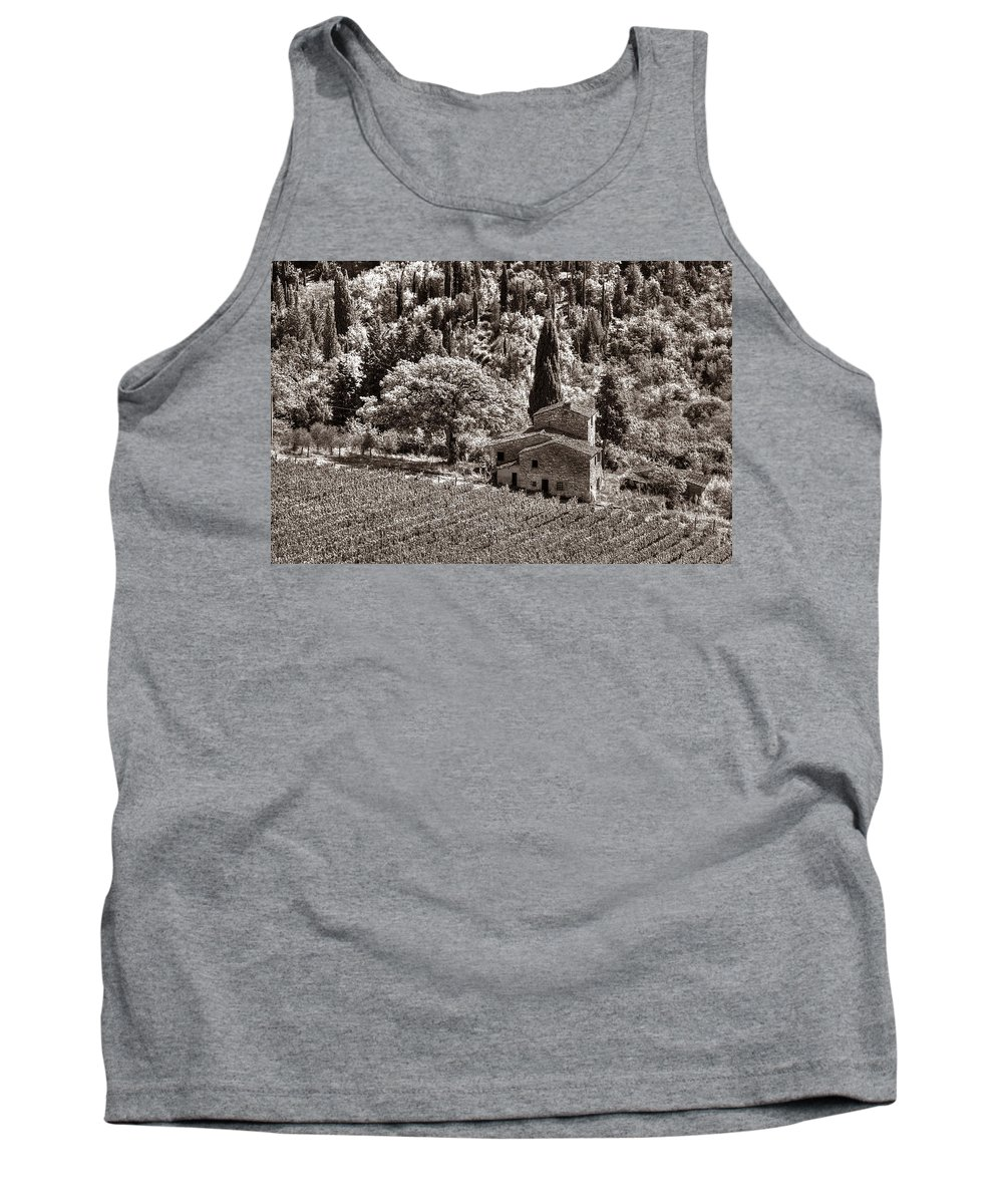 Tuscany Tank Top featuring the photograph Tuscan Vinyard by Michael Kirk