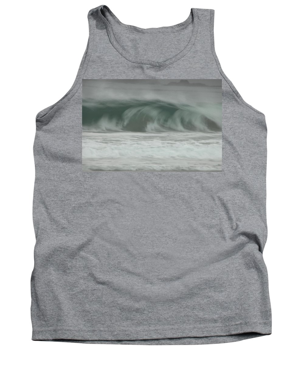 Ocean Tank Top featuring the photograph Twilight Sea by Donna Blackhall