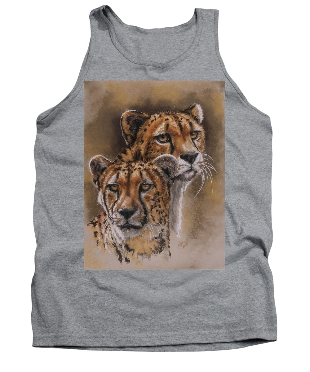 Cheetah Tank Top featuring the pastel Twins by Barbara Keith