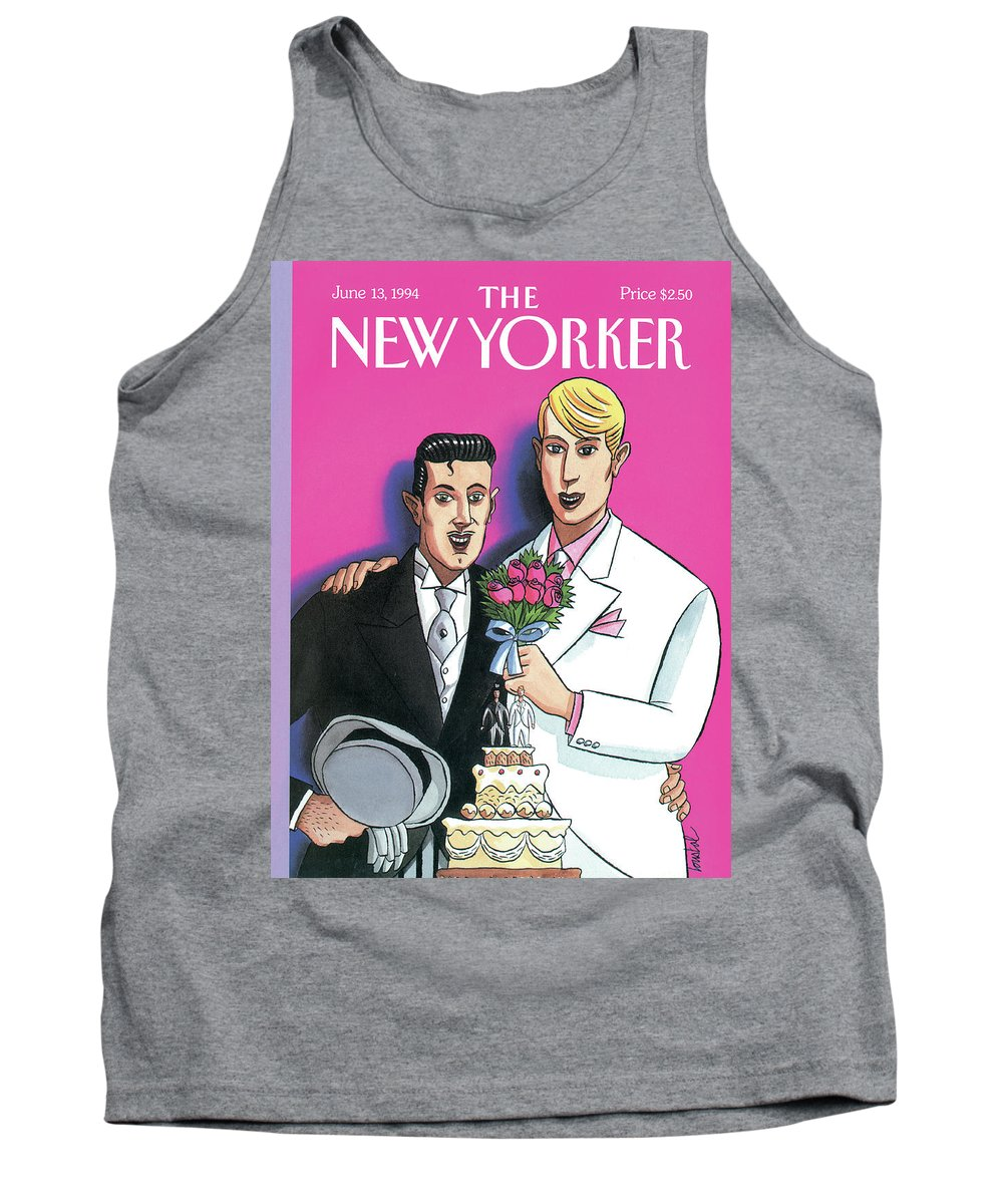 June Tank Top featuring the painting New Yorker June 13th, 1994 by Jacques de Loustal