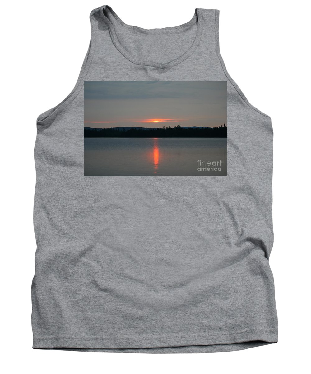 Sunset Tank Top featuring the photograph Umbagog Reflections by Neal Eslinger