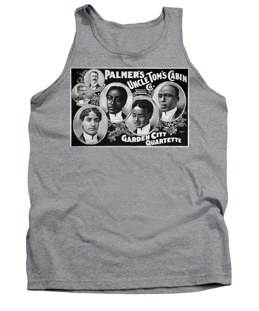 1899 Tank Top featuring the painting Uncle Tom's Cabin Company by Granger