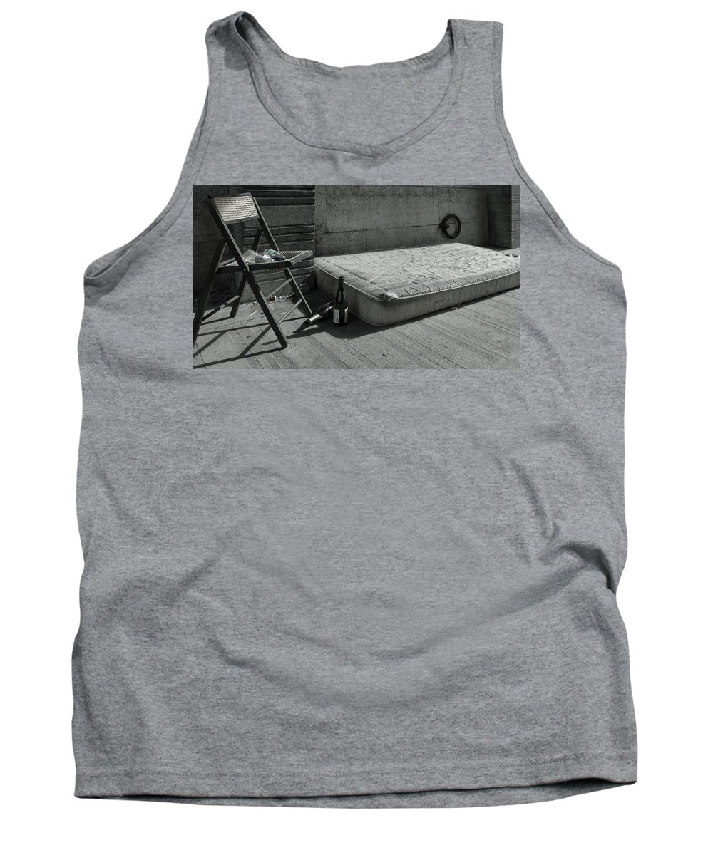Poverty Tank Top featuring the photograph Under The Bridge by Jimmy Karlsson
