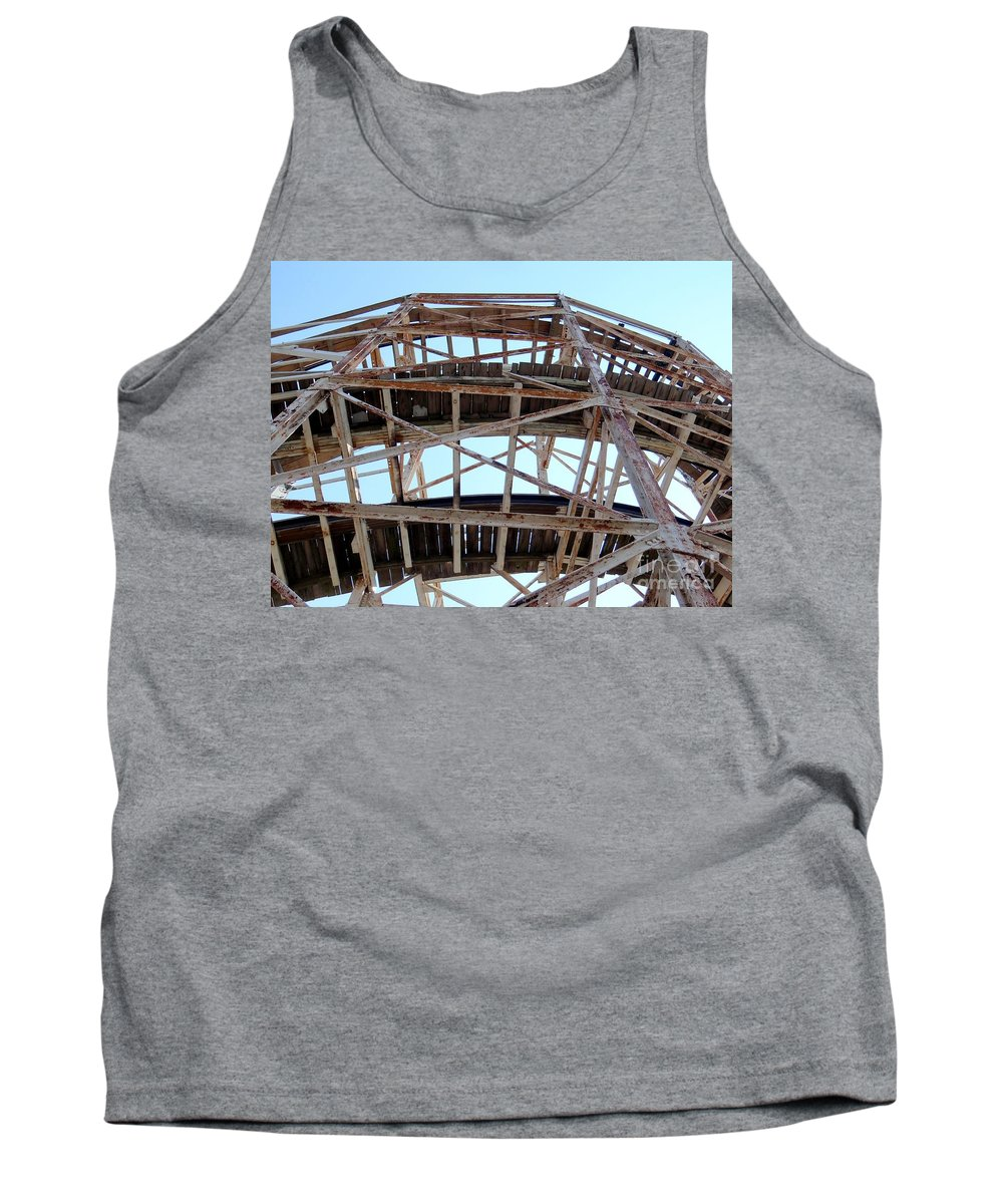 Coney Island Tank Top featuring the photograph Under The Cyclone by Ed Weidman