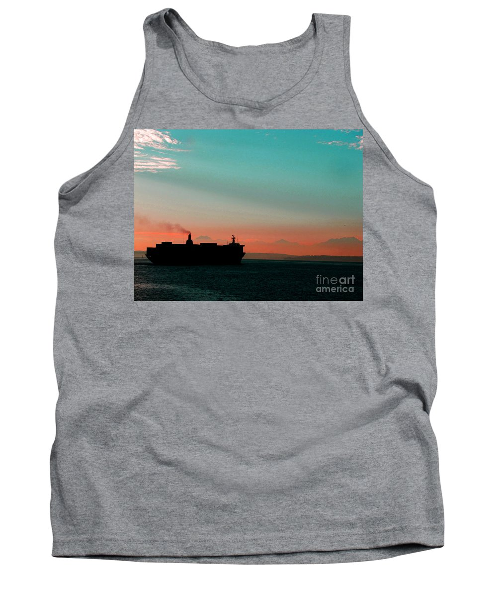 Maritime: Ron Tackett Tank Top featuring the photograph Under Way by Ron Tackett