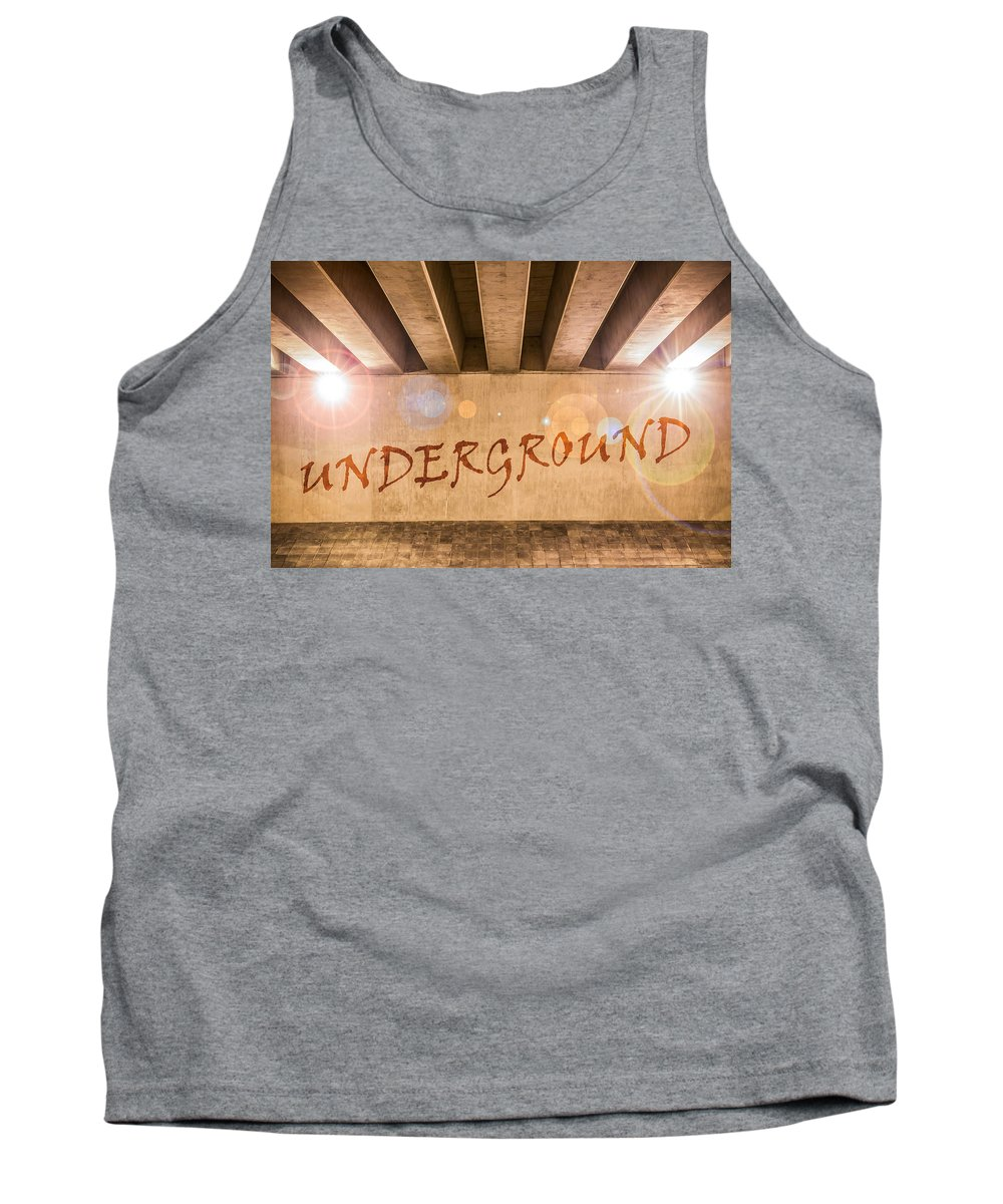 Art Tank Top featuring the photograph Underground by Semmick Photo