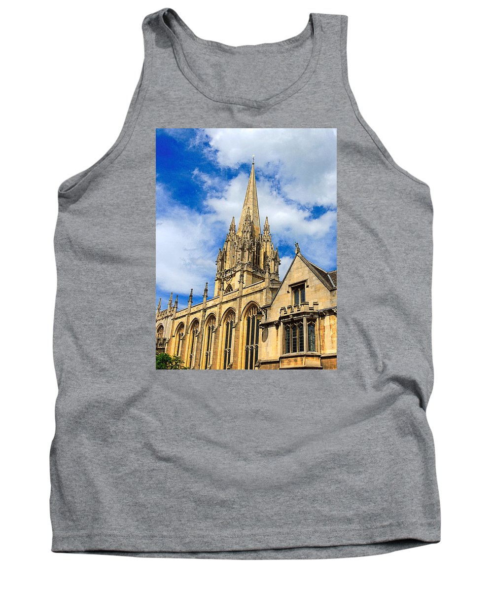 Anglo Saxon Tank Top featuring the photograph University Church Of St Mary The Virgin by Marilyn Holkham
