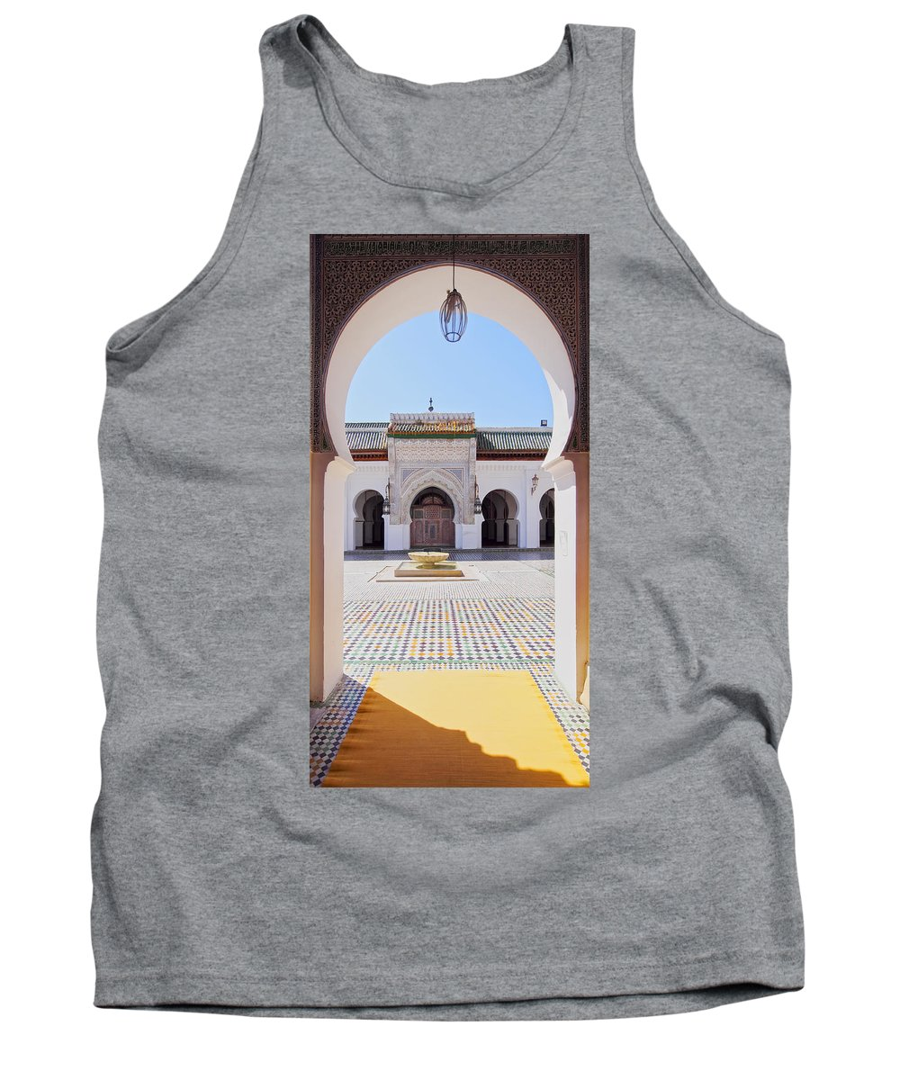 Africa Tank Top featuring the photograph University Of Al-karaouine In Fes In Morocco by Karol Kozlowski