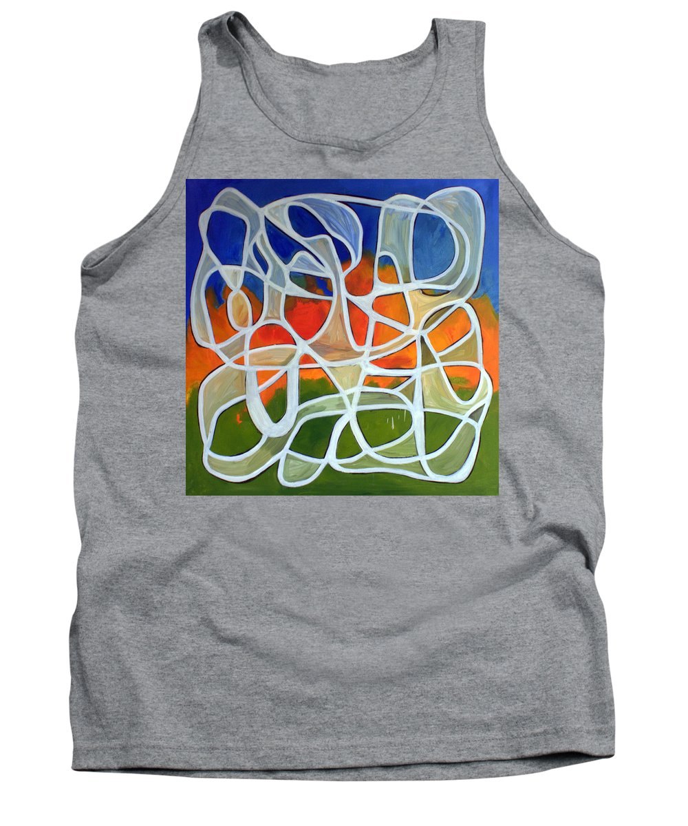 Abstract Tank Top featuring the painting Untitled #18 by Steven Miller
