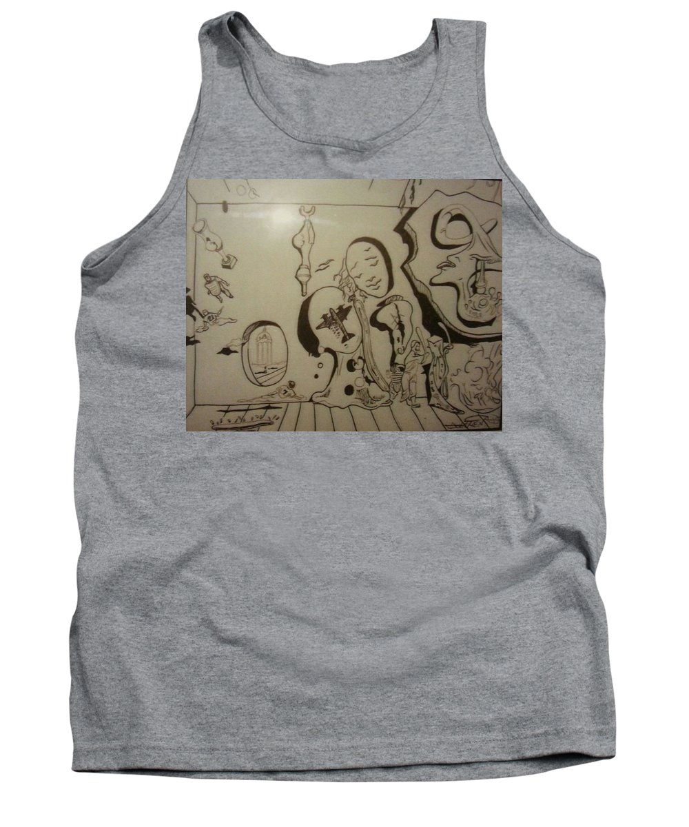Tank Top featuring the drawing Untitled by Jude Darrien