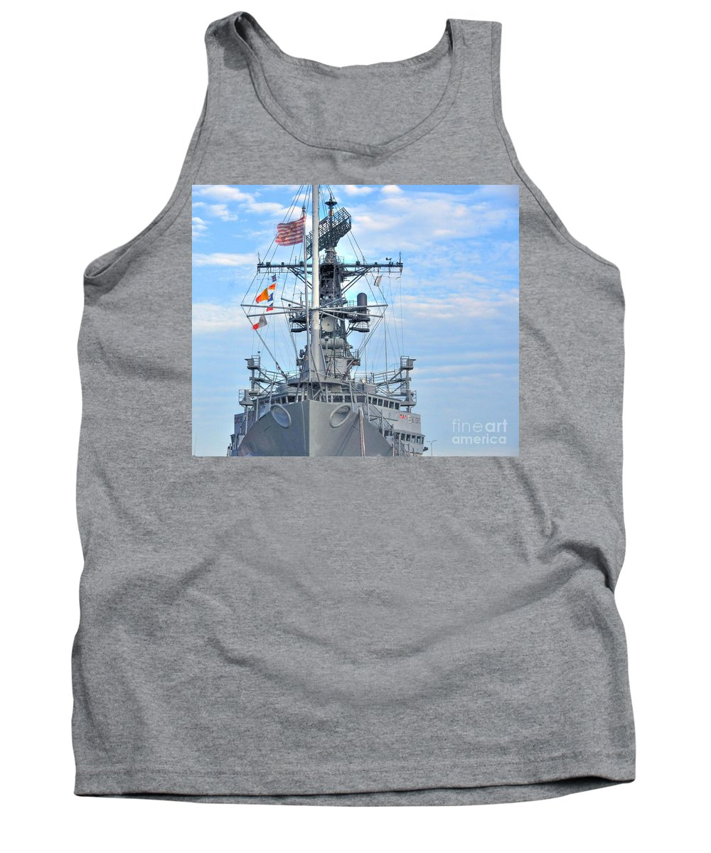 Cruiser Tank Top featuring the photograph U.s.s. Little Rock by Kathleen Struckle
