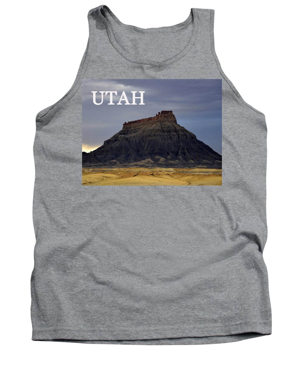 Utah Tank Top featuring the photograph Utah Landscape Factory Butte by David Lee Thompson