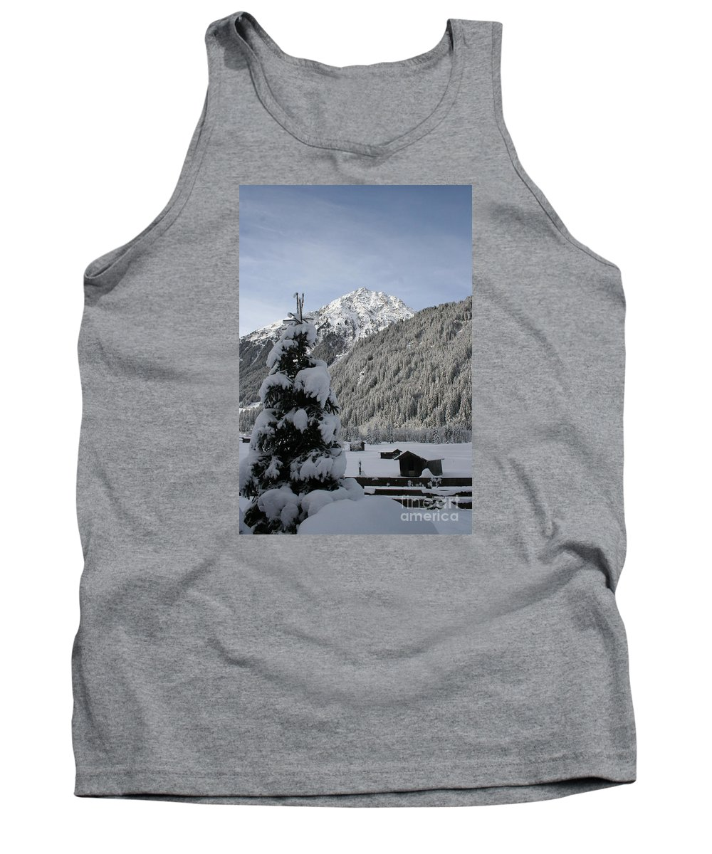 Snow Tank Top featuring the photograph Valley In The Snow by Christiane Schulze Art And Photography