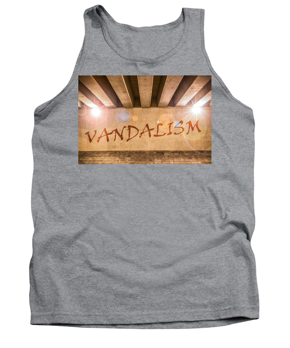 Art Tank Top featuring the photograph Vandalism by Semmick Photo