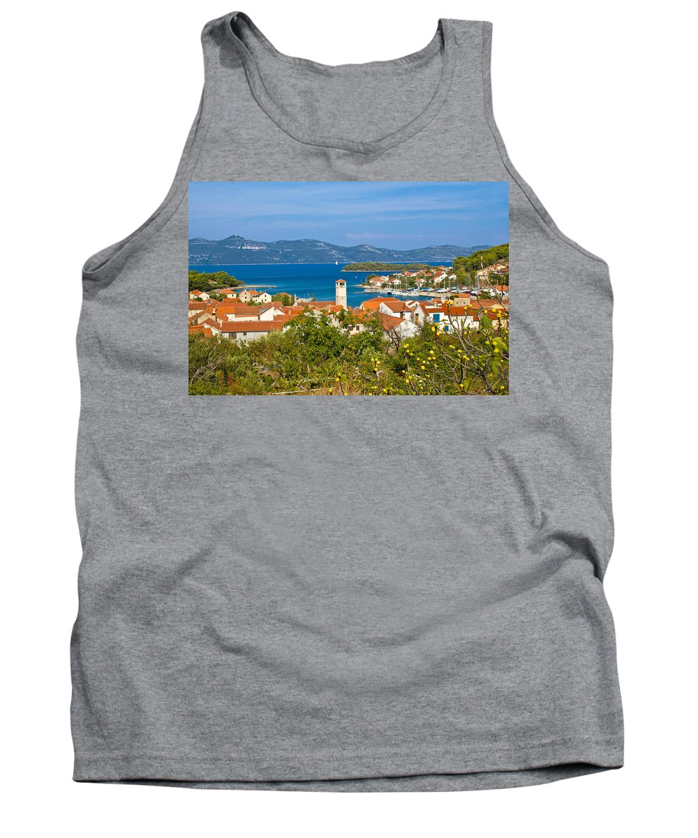 Croatia Tank Top featuring the photograph Veli Iz Adriatic Island View by Brch Photography