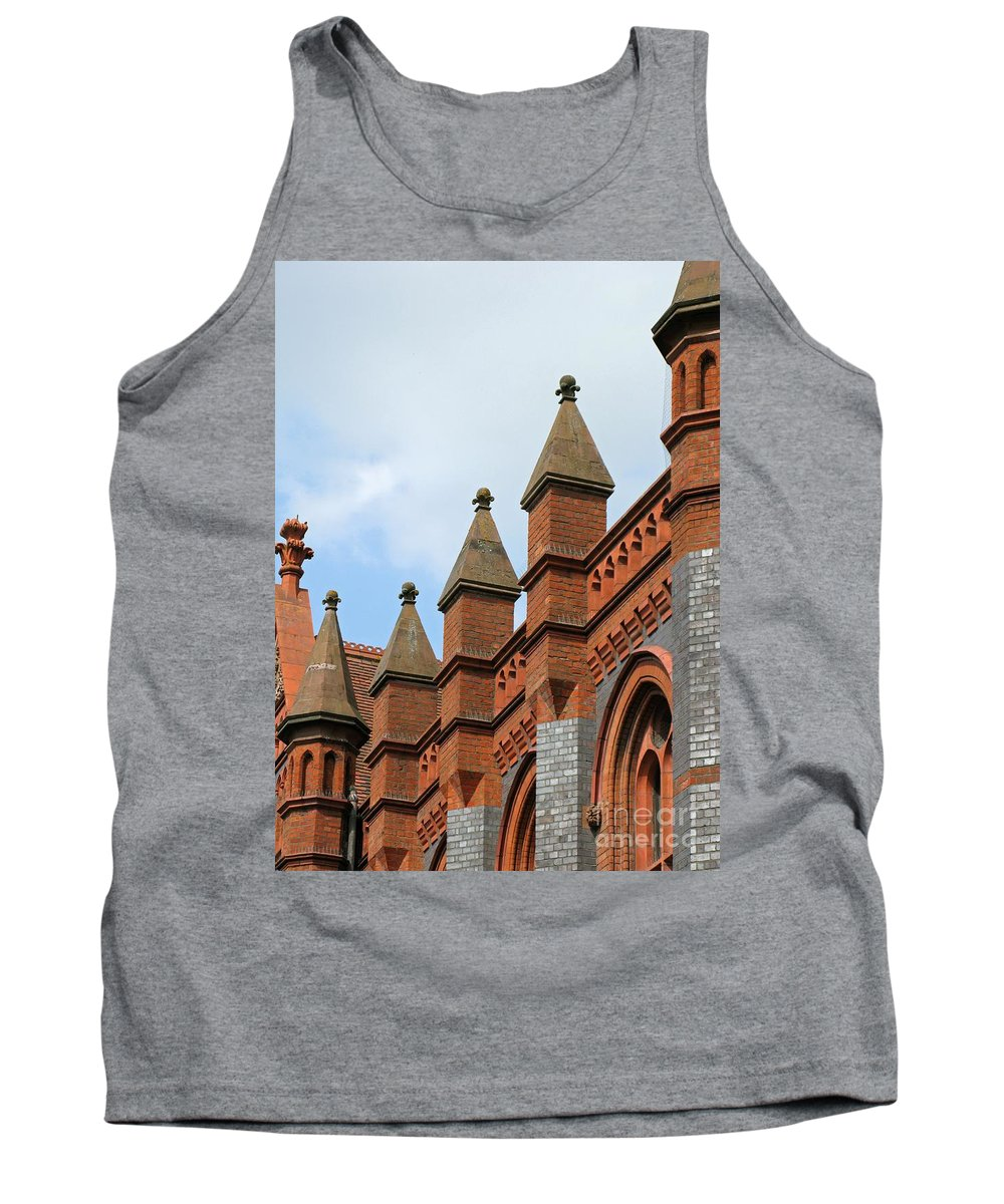 Victorian Tank Top featuring the photograph Victorian Orange by Ann Horn