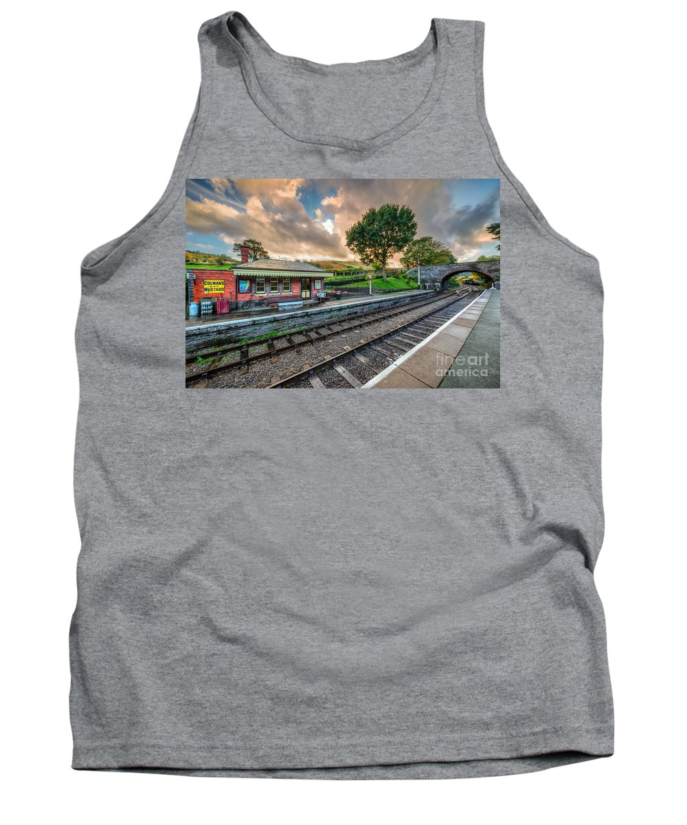 Railroad Tank Top featuring the photograph Victorian Station by Adrian Evans