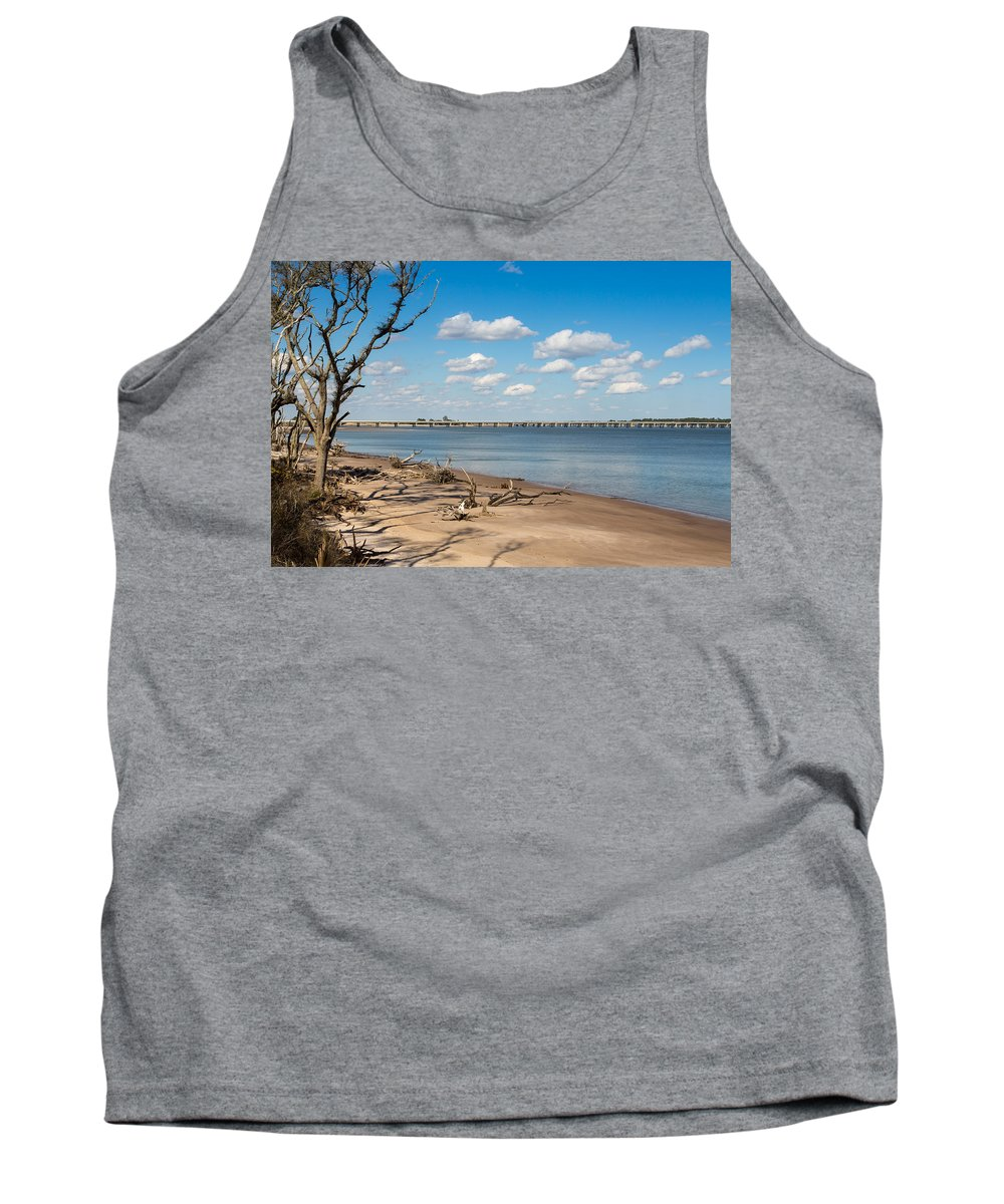 Beach Tank Top featuring the photograph View From Big Talbot Island Beach by John M Bailey