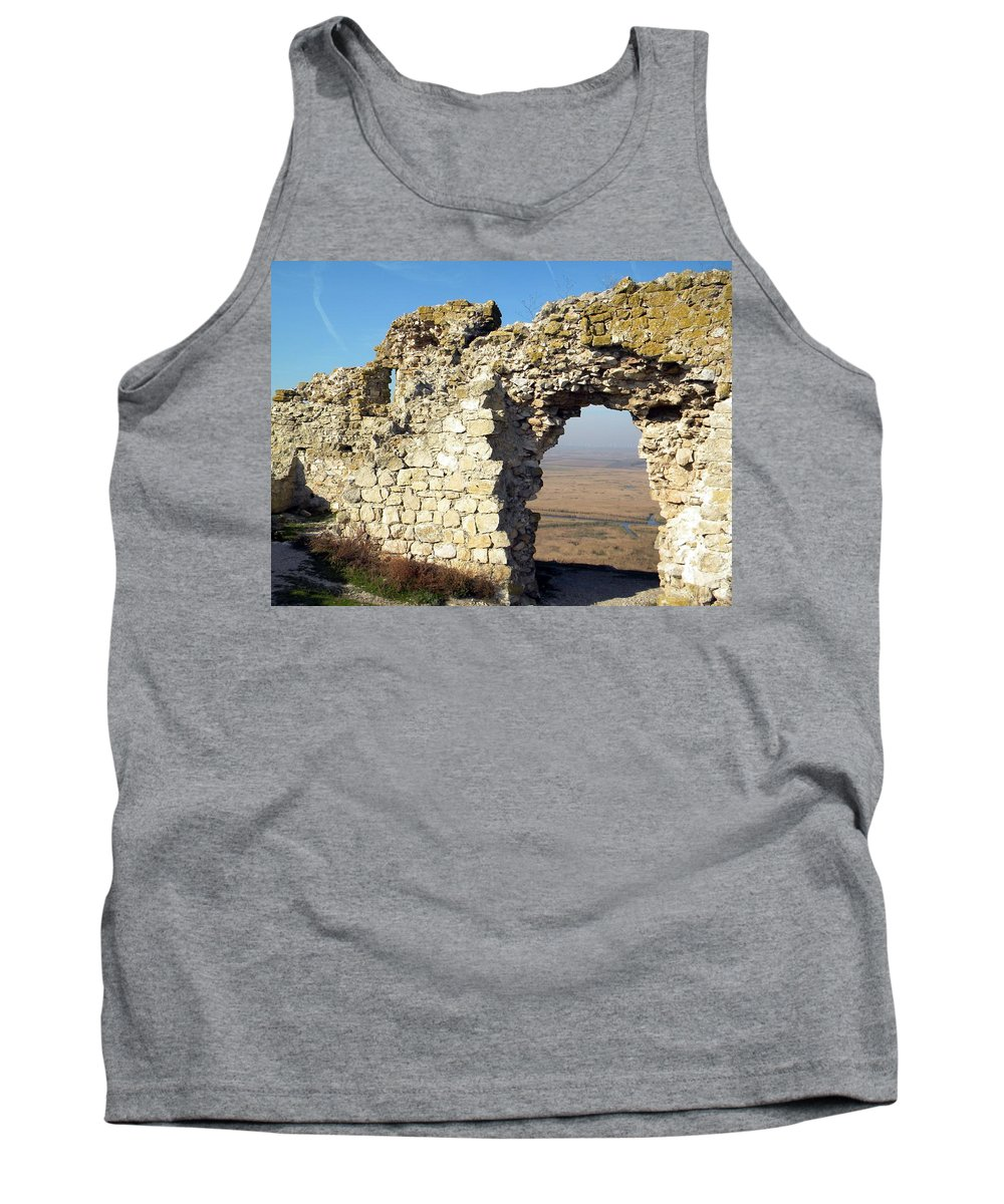 View Tank Top featuring the photograph View From Enisala Fortress 2 by Manuela Constantin