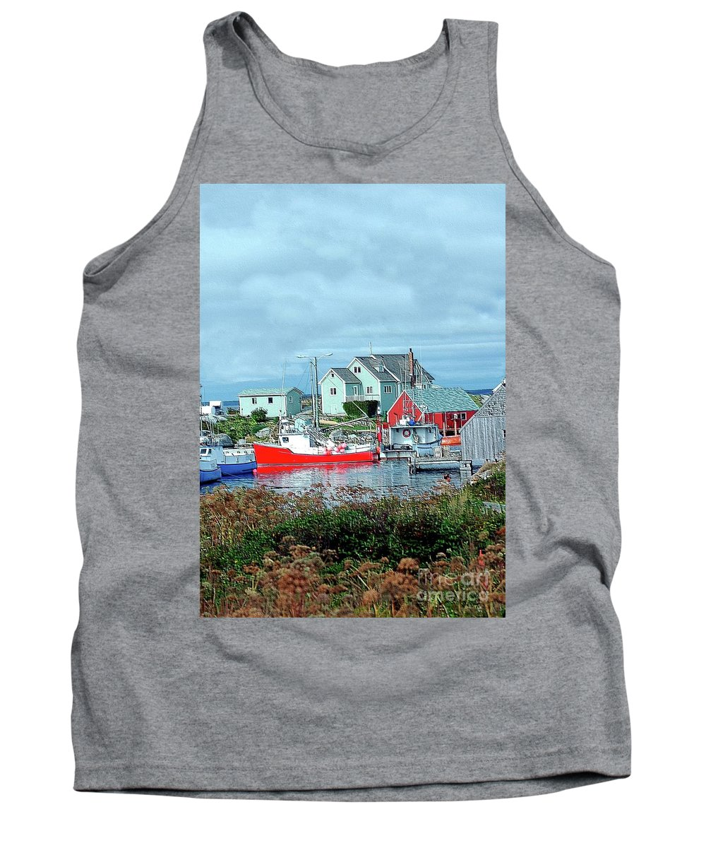 Boat Tank Top featuring the photograph View Of Cove by Kathleen Struckle
