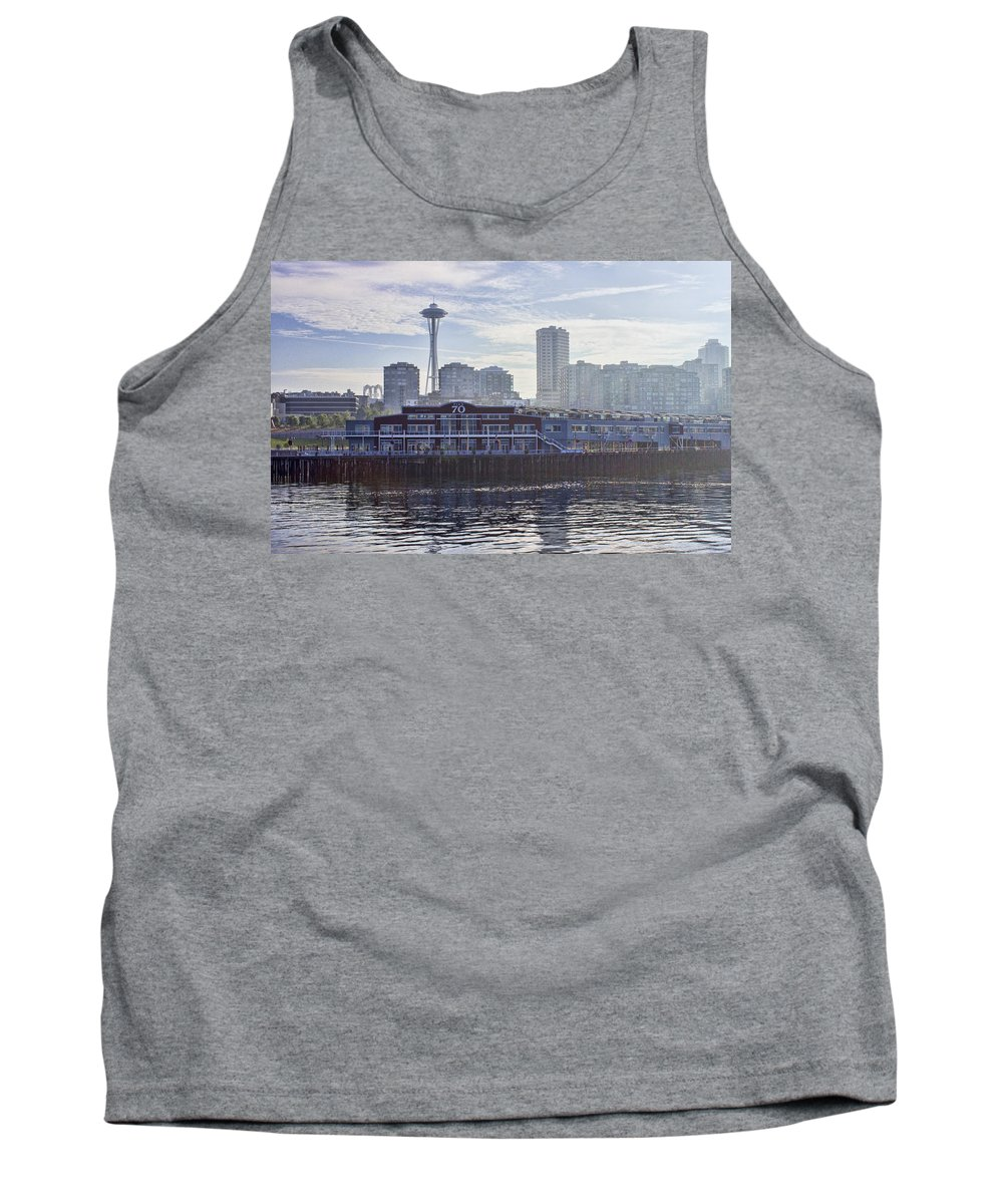 Pier 70 Tank Top featuring the photograph View Of Pier 70 by Cathy Anderson