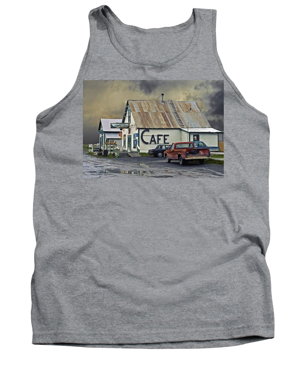 Alaska Tank Top featuring the photograph Vintage Alaska Cafe by Ron Day