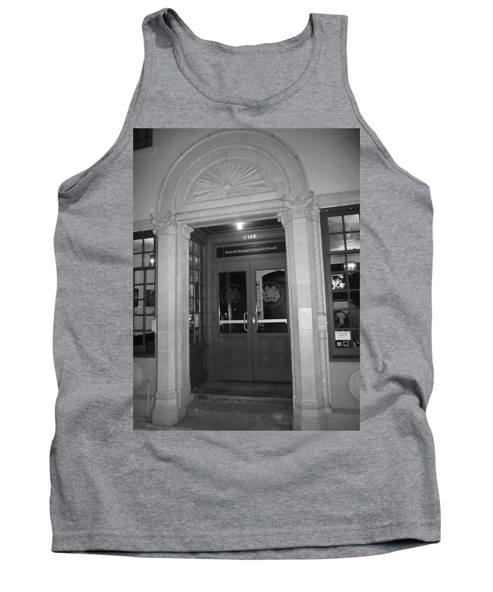 Old Building Tank Top featuring the photograph Vintage Arch Moulding by Kym Backland