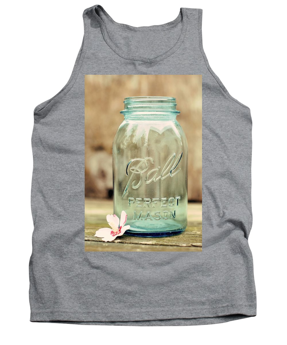 Vintage Ball Mason Tank Top featuring the photograph Vintage Ball Mason by Terry DeLuco