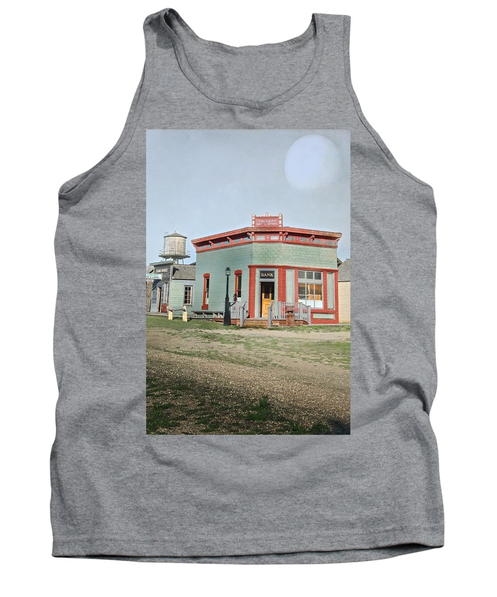 Vintage Tank Top featuring the photograph Vintage Bank by Judy Hall-Folde