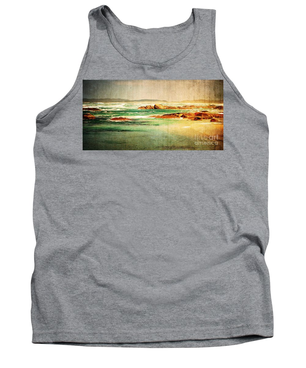 Vintage Tank Top featuring the photograph Vintage Beach by Phill Petrovic