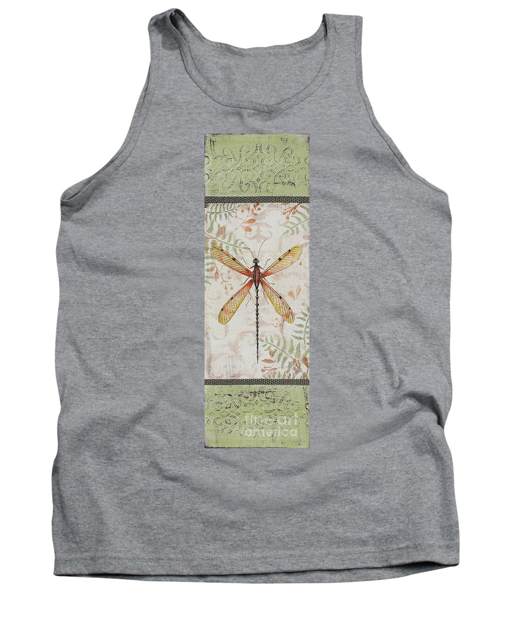 Insect Tank Top featuring the painting Vintage Dragonfly-jp2563 by Jean Plout