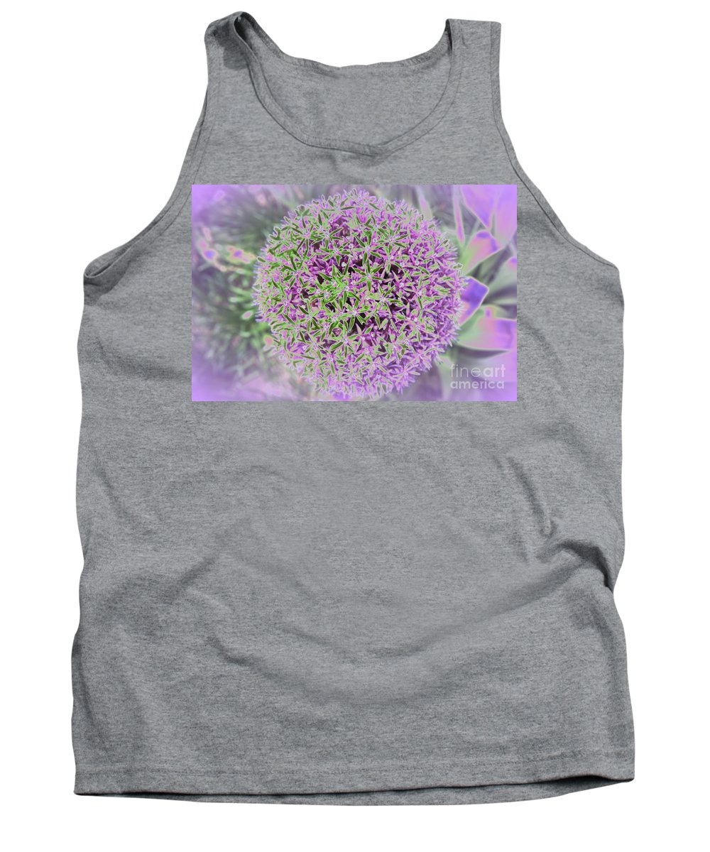 Flower Tank Top featuring the photograph Violet And Green by Christiane Schulze Art And Photography
