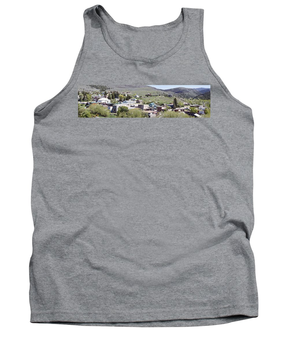 Montana Tank Top featuring the photograph Virginia City Montana Ghost Town by Daniel Hagerman