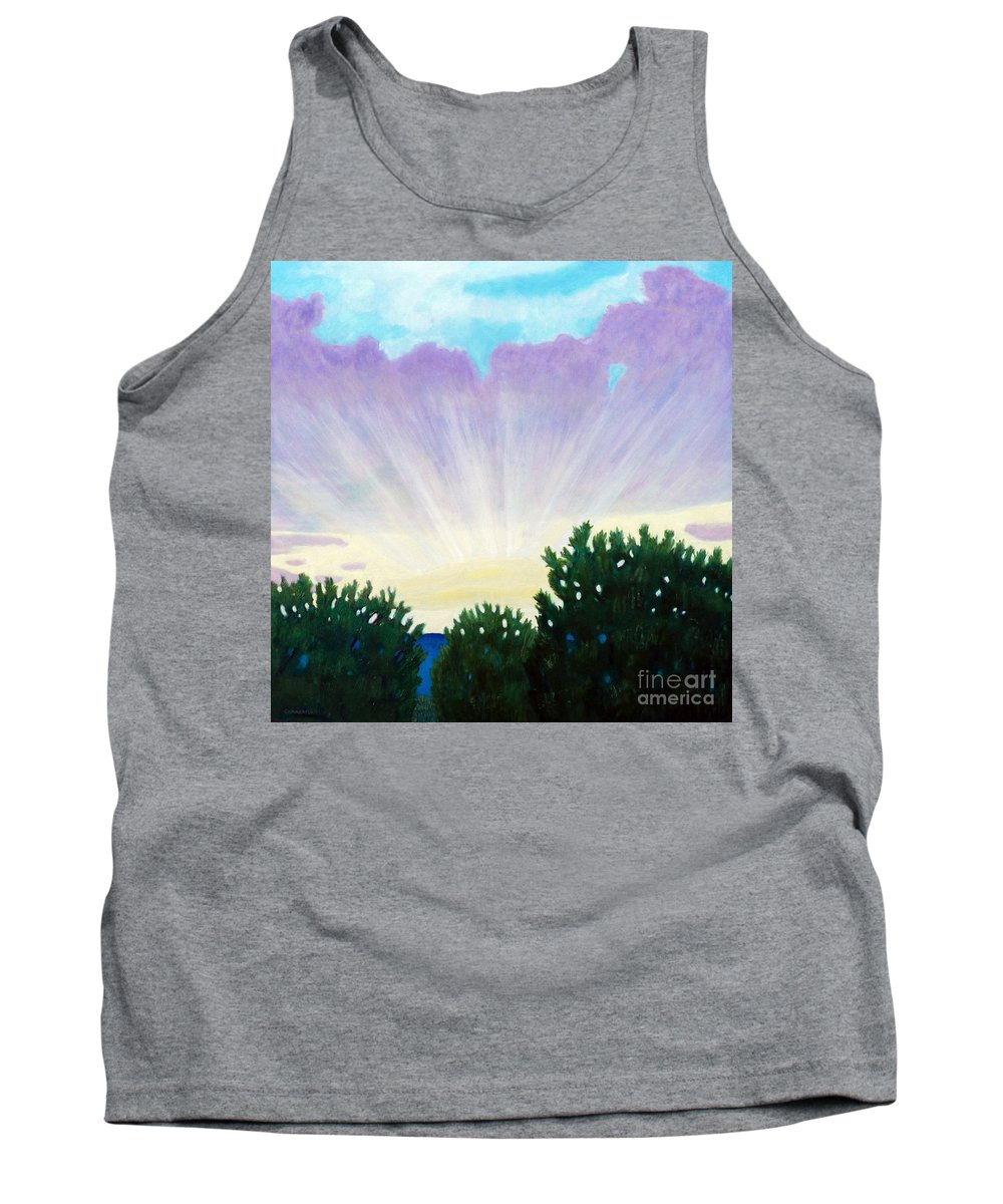Skyscape Tank Top featuring the painting Visionary Sky by Brian Commerford