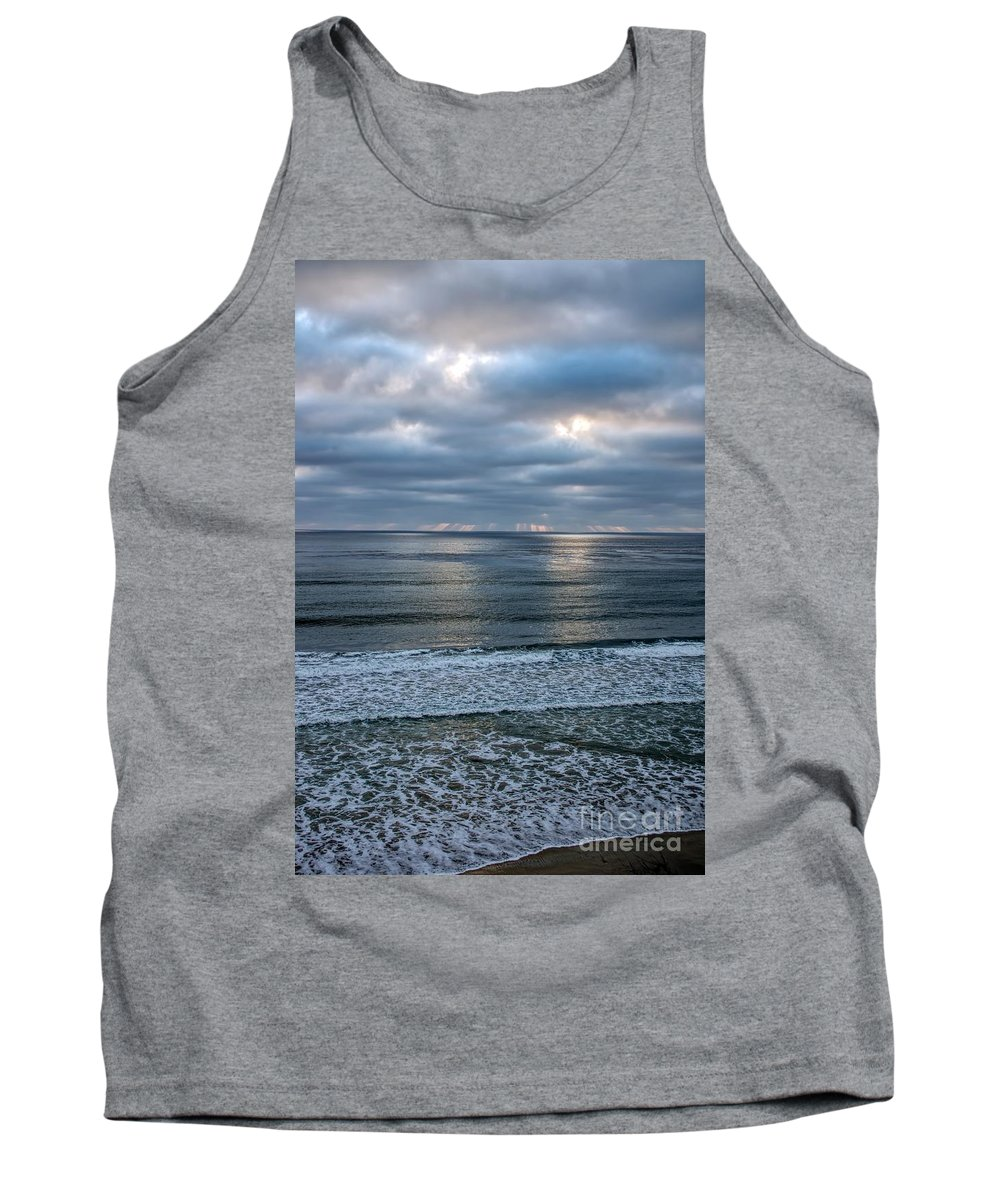 Beach Tank Top featuring the photograph Waiting For Sunset by Peggy Hughes