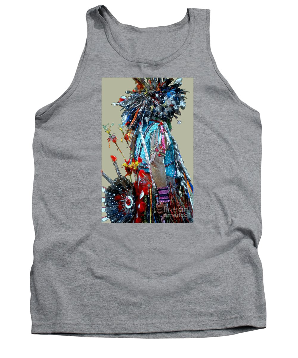 Indians Tank Top featuring the photograph Waiting To Dance by Linda Parker
