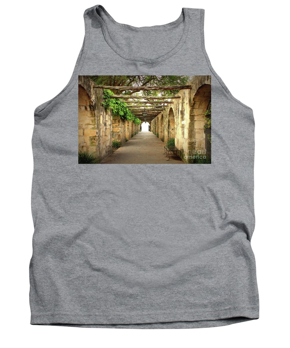 Alamo Tank Top featuring the photograph Walk To The Light by Carol Groenen