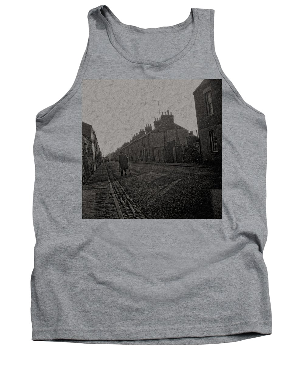 Tank Top featuring the digital art Walking Down The Street by Cathy Anderson